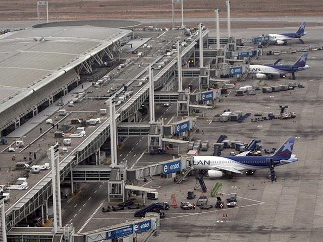 Aeropuerto en Santiago de Chile