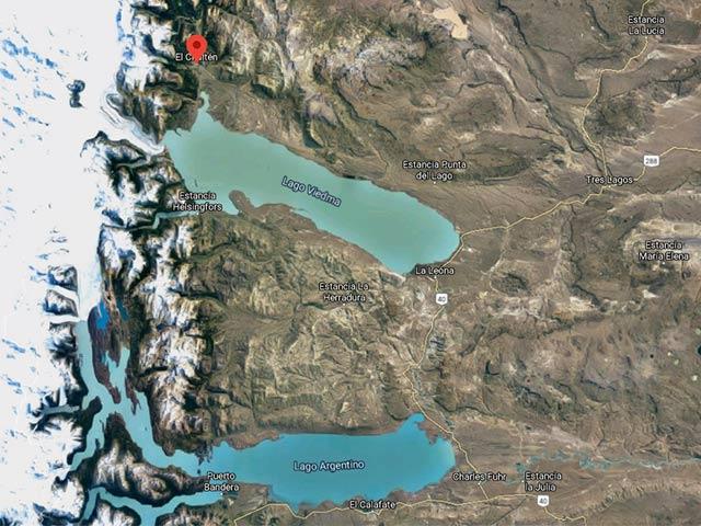 Mapa del Lago Viedma