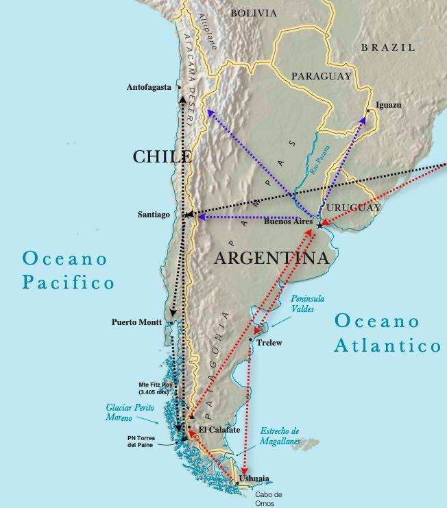 Itinerario de vuelos argentina