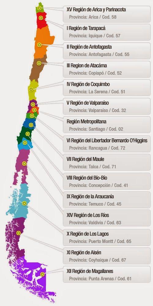 nombre regiones de chile