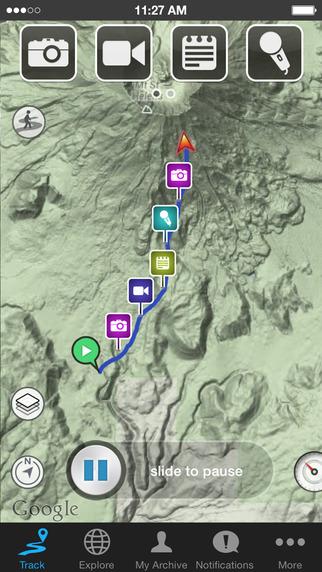 apps de mapas en patagonia
