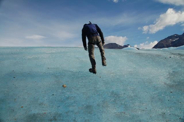 Trekking sobre el hielo.