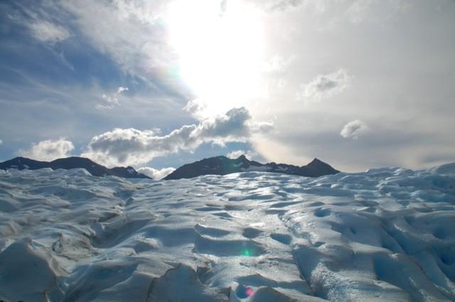 El cielo sobre el Glaciar.