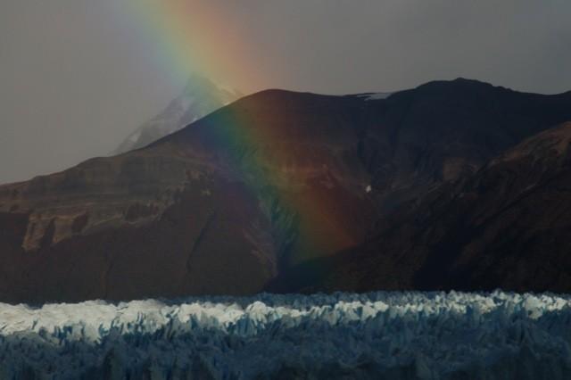 Arcoíris sobre el Glaciar.