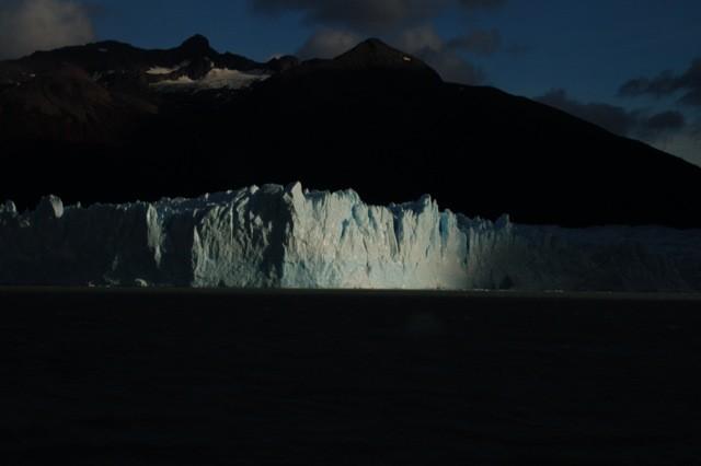 Atardecer en el Glaciar.