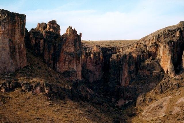 Vista de las cuevas