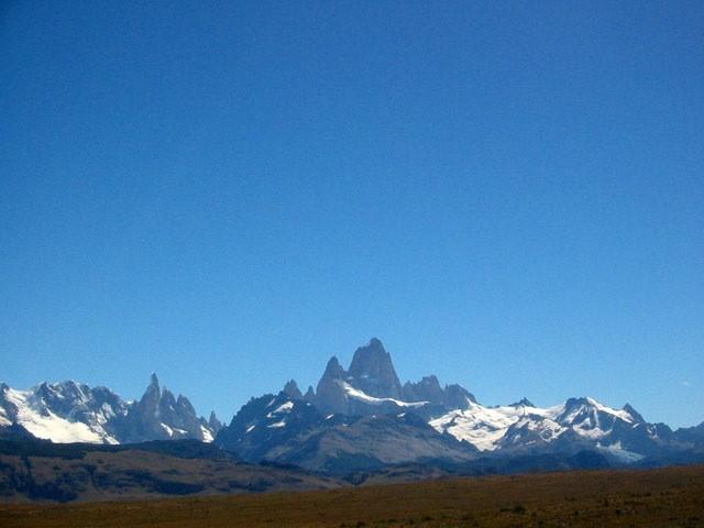 Vista camino a El Chalten