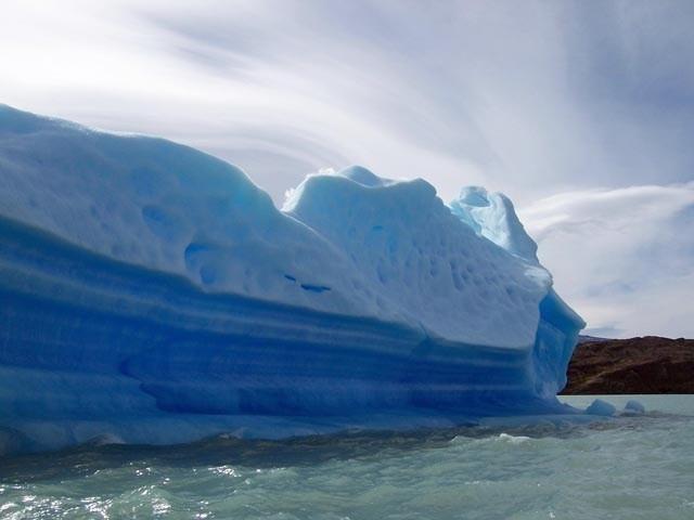 Vista del Glaciar desde el Upsalla