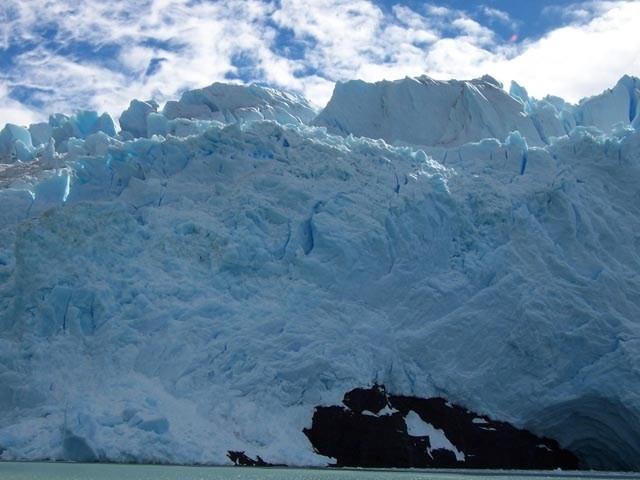 Vista del Glaciar Grey desde el barco