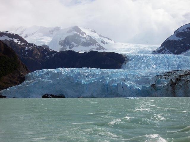 Llegando al Glaciar en el Upsalla