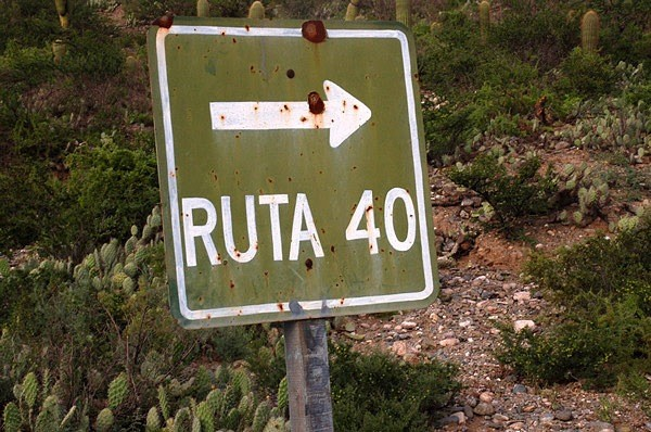 Letrero ruta 40
