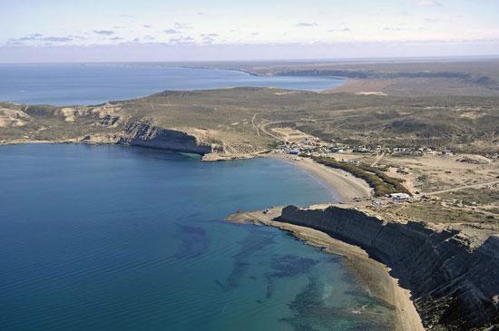Puerto Pirámides en la Península Valdes Chubut - Patagonia