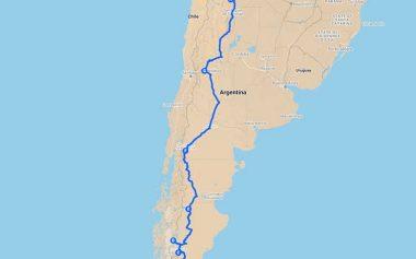 Mapa de la ruta 40