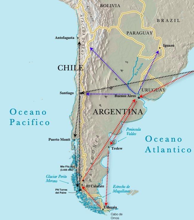 Itinerario de Viaje a Patagonia
