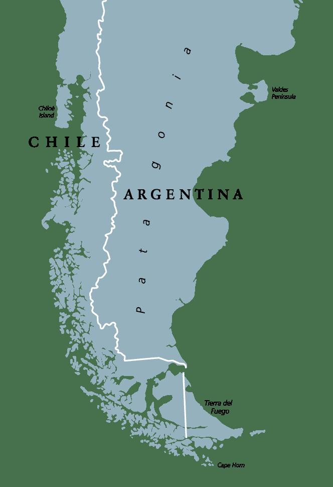 Mapa de la Patagonia